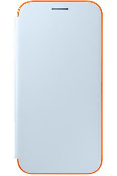 Housse et étui pour téléphone mobile ETUI FLIP NEON BLEU POUR SAMSUNG GALAXY A3 2017 Samsung