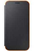 Housse et étui pour téléphone mobile Samsung ETUI FLIP NEON NOIR POUR SAMSUNG GALAXY A5 2017