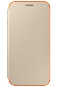 Housse et étui pour téléphone mobile ETUI FLIP NEON OR POUR SAMSUNG GALAXY A5 2017 Samsung