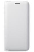 Samsung ETUI FLIP WALLET BLANC POUR GALAXY S6 EDGE