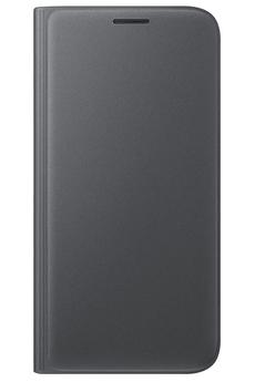 Housse et étui pour téléphone mobile ETUI FLIP WALLET NOIR POUR SAMSUNG GALAXY S7 Samsung