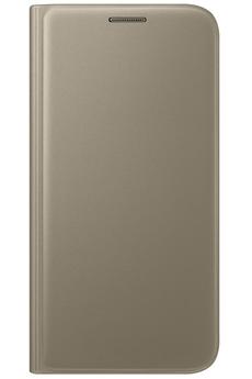 Housse et étui pour téléphone mobile ETUI FLIP WALLET OR POUR SAMSUNG GALAXY S7 Samsung