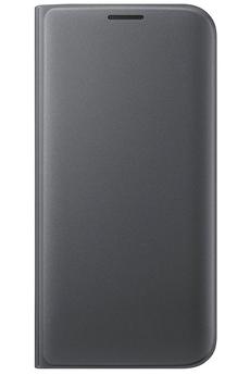 Housse et étui pour téléphone mobile ETUI FLIP WALLET NOIR POUR SAMSUNG GALAXY S7 EDGE Samsung