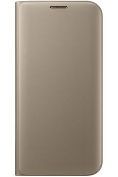 Housse et étui pour téléphone mobile ETUI FLIP WALLET OR POUR SAMSUNG GALAXY S7 EDGE Samsung