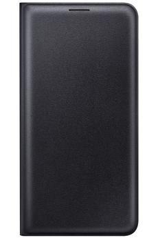 Housse et étui pour téléphone mobile ETUI FLIP WALLET NOIR POUR SAMSUNG GALAXY J7 2016 Samsung