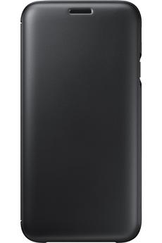 Coque smartphone Samsung ETUI FLIP WALLET NOIR POUR SAMSUNG GALAXY J7 2017
