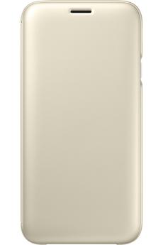 Coque smartphone Samsung ETUI FLIP WALLET OR POUR SAMSUNG GALAXY J7 2017
