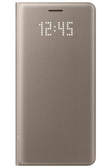 Housse et étui pour téléphone mobile ETUI LED VIEW COVER OR POUR SAMSUNG GALAXY NOTE 7 Samsung
