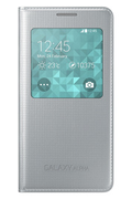 Samsung Etui S Viw Cover Silver pour SAMSUNG GALAXY ALPHA