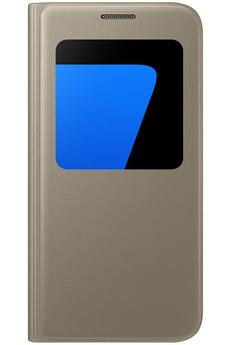Housse et étui pour téléphone mobile ETUI S VIEW COVER OR POUR SAMSUNG GALAXY S7 Samsung