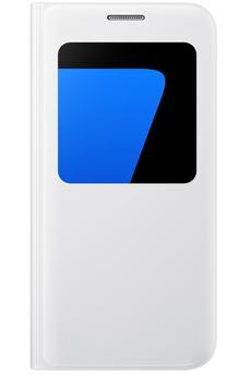 Housse et étui pour téléphone mobile ETUI S VIEW COVER BLANC POUR SAMSUNG GALAXY S7 Samsung