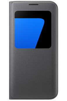 Housse et étui pour téléphone mobile ETUI S VIEW COVER NOIR POUR SAMSUNG GALAXY S7 EDGE Samsung