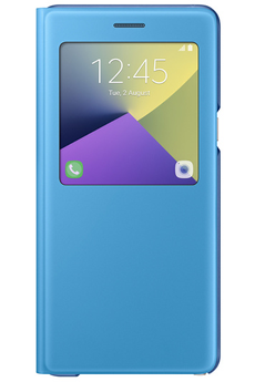 Housse et étui pour téléphone mobile ETUI S VIEW COVER BLEU POUR SAMSUNG GALAXY NOTE 7 Samsung