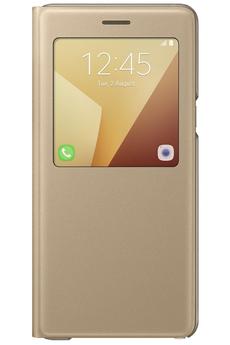 Housse et étui pour téléphone mobile ETUI S VIEW COVER OR POUR SAMSUNG GALAXY NOTE 7 Samsung
