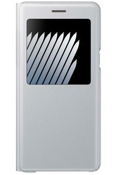 Housse et étui pour téléphone mobile ETUI S VIEW COVER ARGENT POUR SAMSUNG GALAXY NOTE 7 Samsung