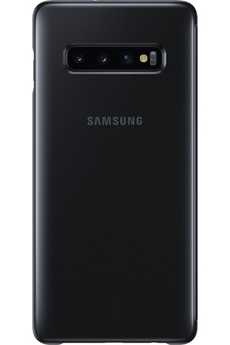 Coque smartphone Samsung Clear View Cover pour Samsung Galaxy S10+ Noir