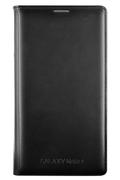 Samsung ETUI FLIP WALLET NOIR POUR GALAXY NOTE 4