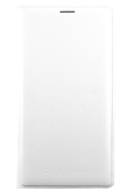 L'étui portefeuille Samsung Flip Wallet blanc protège votre Samsung Galaxy Note 4 des rayures et de la poussière. Conçu pour votre smartphone Coque rigide à l'arrière avec rabat de protection, conçu spécialement pour le Samsung Galaxy Note 4 laisse libre