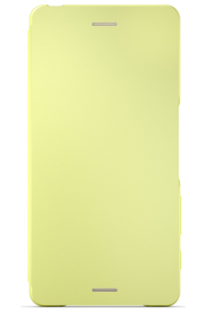 Housse et étui pour téléphone mobile ETUI FLIP COVER JAUNE POUR SONY XPERIA XA Sony