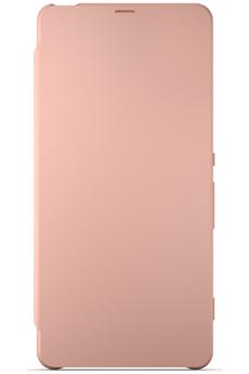 Housse et étui pour téléphone mobile ETUI FLIP COVER ROSE POUR SONY XPERIA X Sony