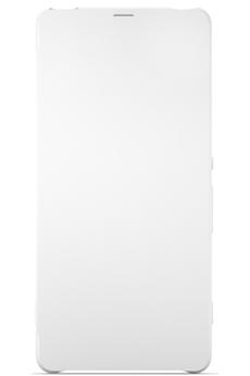 Housse et étui pour téléphone mobile ETUI FLIP COVER BLANC POUR SONY XPERIA X Sony