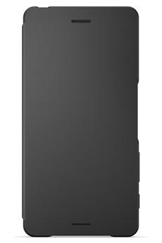 Housse et étui pour téléphone mobile ETUI FLIP COVER NOIR POUR SONY XPERIA XA Sony