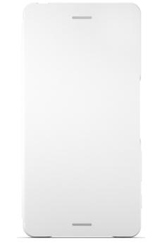 Housse et étui pour téléphone mobile ETUI FLIP COVER BLANC POUR SONY XPERIA XA Sony