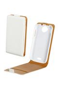 Housse et étui pour téléphone mobile Swiss Charger Etui blanc pour WIKO CINK PEAX/PEAX 2
