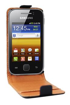 Housse et étui pour téléphone mobile ETUI GALAXY Y NOIR Swiss Charger
