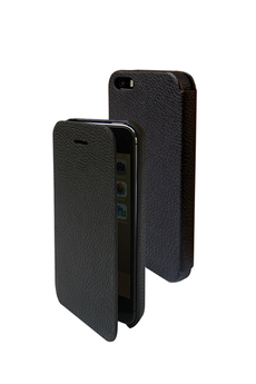 Housse pour iPhone Folio noir pour iPhone 5/5S Temium