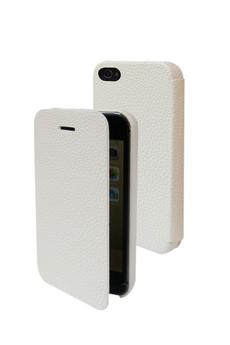 Housse pour iPhone FOLIO Blanc pour iphone 4/4S Temium