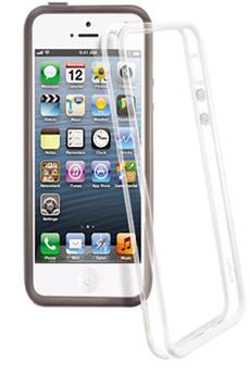 Housse pour iPhone Pack de 2 bumper Noir/Transparent iPhone 5/5S Temium