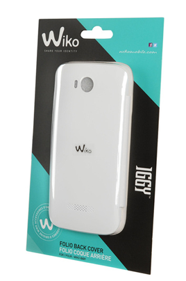 Housse et tui pour t l phone mobile wiko etui iggy blanc for Housse telephone wiko