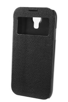 Housse et étui pour téléphone mobile ETUI WINDOW GALAXY S4 NOIR Xqisit
