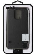 Xqisit Etui Folio noir pour Galaxy S5