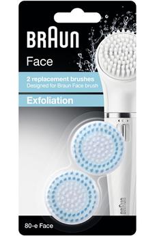 Accessoire beauté BROSSE DE RECHANGE EXFOLIANTE 80-E X2 FACE Braun