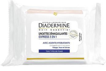 Diadermine Accessoire beauté Diadermine LINGETTES DEMAQUILLANTES