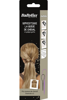 Accessoire coiffure Pics queue de cheval inversée x2 Babyliss