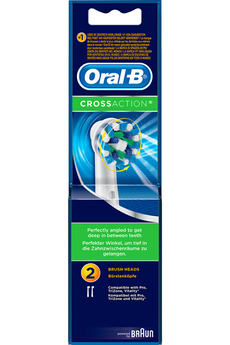 Brossette et canule dentaires CROSS ACTION EB50X2 Oral B