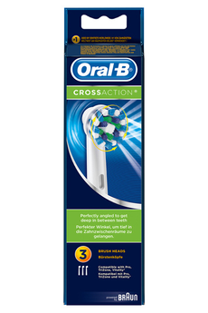 Brossette et canule dentaires BROSSETTE CROSS ACTION X3 Oral B