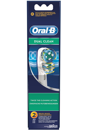 Brossette et canule dentaires oral b dual clean eb417x2 for Porte brossette oral b