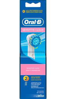 Brossette et canule dentaires SENSITIVE EBS17X2 Oral B