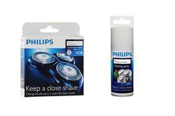 Accessoire rasage TETE HQ8 + NETTOYANT DESINFECTANT Philips