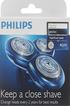 Grille et tête de rasoir TETE RQ10 X3 Philips
