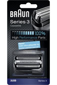 Grille et tête de rasoir Cassette 32B Série 3 Braun