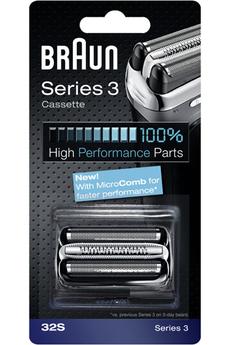 Grille et tête de rasoir Cassette 32S Série 3 Braun