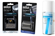 Braun PACK GRILLE+COUTEAU 51S S5 + CASSETTE 32B-SERIE3 + SPRAY