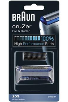 Grille et tête de rasoir GRILLE + BLOC COUTEAUX 20S COMBI-PACK Braun
