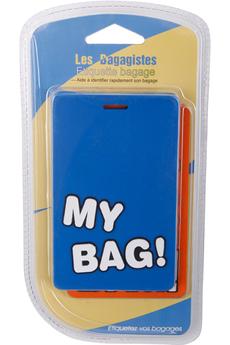 Accessoire soin du linge ENSEMBLE 2 ETIQUETTES BLEU/ORANGE Les Bagagistes