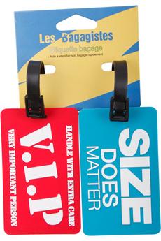 Accessoire soin du linge ENSEMBLE 2 ETIQUETTES ROUGE/BLEU Les Bagagistes